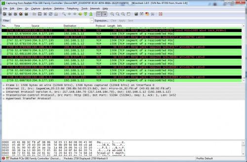 sniffer réseau Wireshark