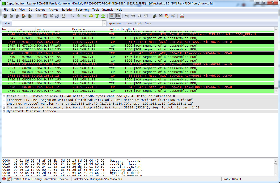 gratuitement wireshark 1.2.2