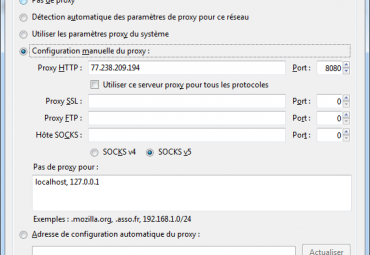 parametrer proxy firefox
