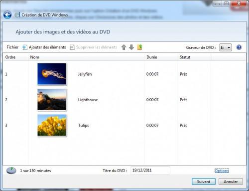 Créer dvd avec windows