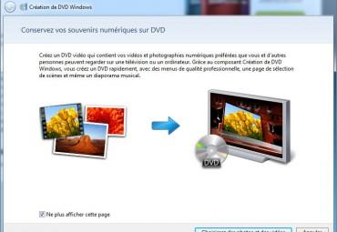 Création dvd windows