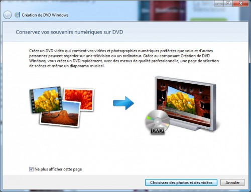 Création dvd windows