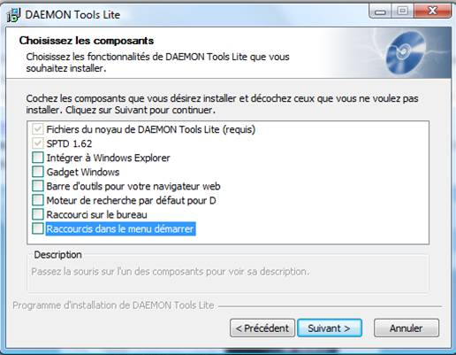 lecteur virtuel daemon tools