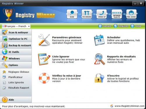 options de Registry Winner