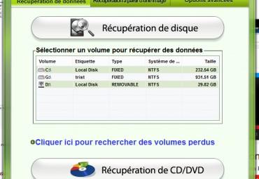 Récupération de disque