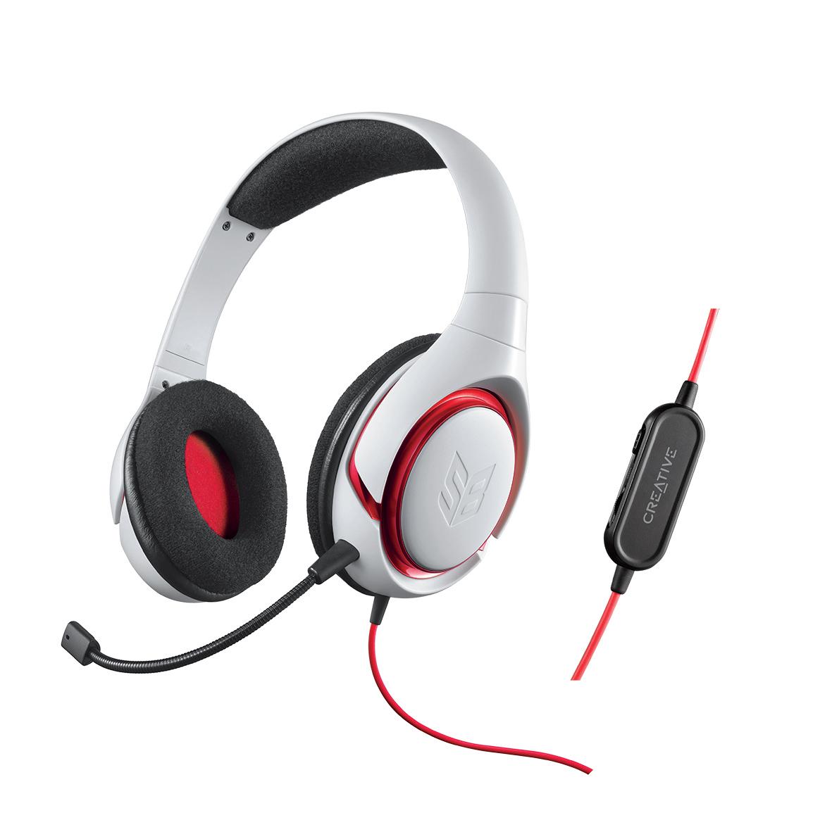 le casque gaming sound blaster inferno en blanc tplpc com. Black Bedroom Furniture Sets. Home Design Ideas