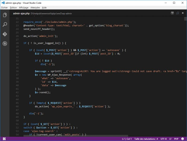 visual studio code pour linux