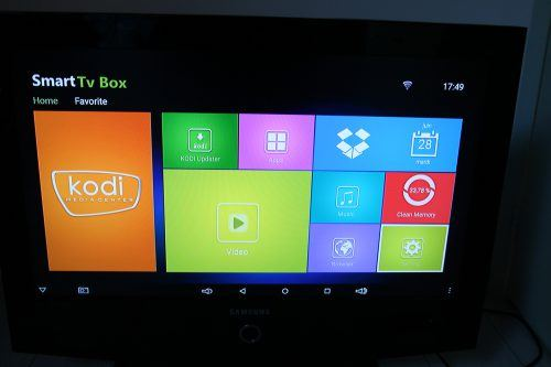 box TV Sunvell Q-Box interface Kodi