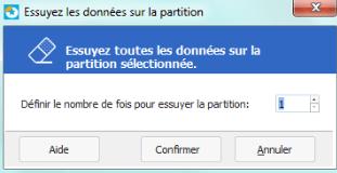 effacer données partition