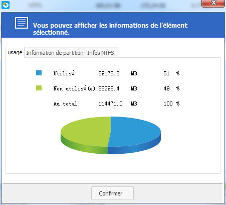 informations partition