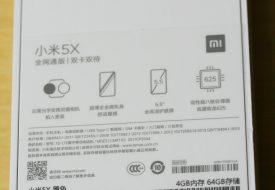 déballage boite Mi5X