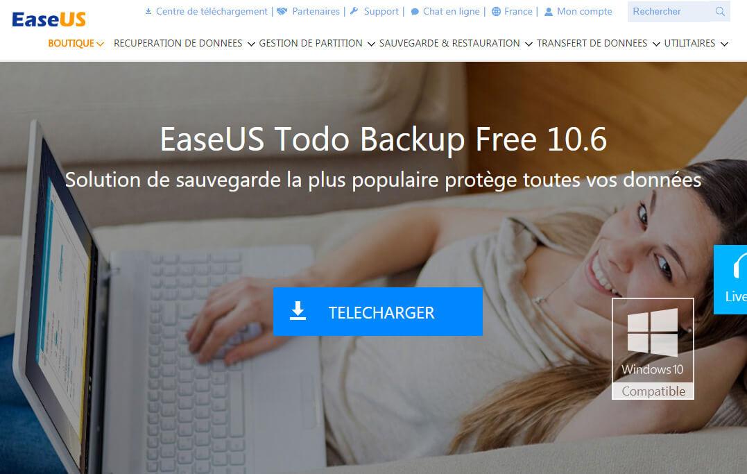 Telecharger EaseUS Todo Backup Free