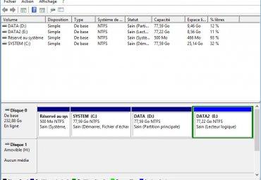 gestion des disques et partitions