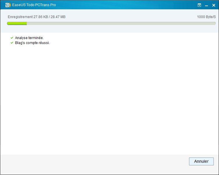 sauvegarde fichier transfert