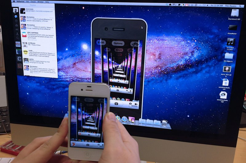 infinity iphone sur tv